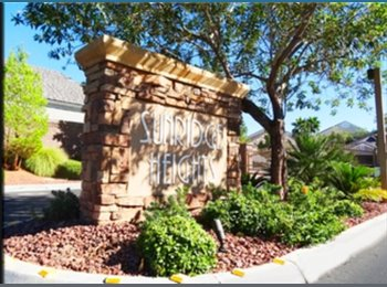 EasyRoommate US - 600 to 750 3 bedrooms available in a gated community!  In Henderson  - Sunridge, Las Vegas - $750 /mo