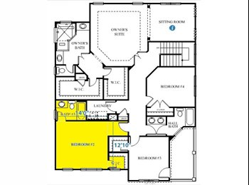 ROOM FOR RENT w/PRIVATE FULL BATH (Available 9/7/2015)