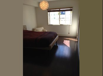 Sunny bedroom w/private bath & office work space in...