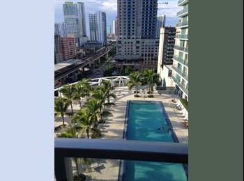 EasyRoommate US - Furnished 2/2 with White Tile Floors!!! - Brickell Avenue, Miami - $1,300 /mo