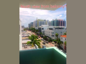 EasyRoommate US - Furnished 1bdrm/1bath in 2bdrm/2bth apt. 1 block from ocean - South Beach, Miami - $1,300 /mo