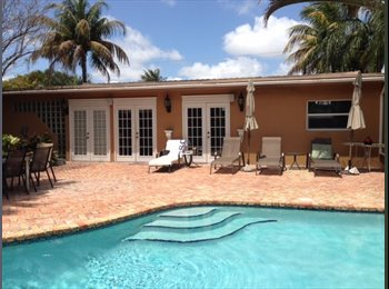 EasyRoommate US - Beautiful 3 Bedroom 2 bath - with Pool and Tropical backyard - Hollywood, Ft Lauderdale Area - $650 /mo