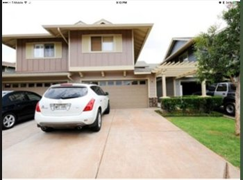 EasyRoommate US - Two Rooms for Rent in Beautiful 3 Bed/2.5 Bath Townhouse in Makakilo (Kapolei) - Oahu, Oahu - $1,200 /mo