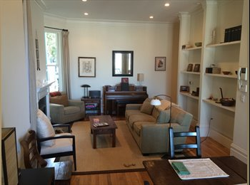 1/2 Floor Of Gorgeous Victorian Flat.  Sunny Side Of Buena...
