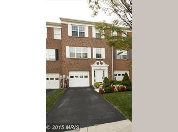 EasyRoommate US - Room Available  -- Luxury Townhouse in Owings Mills,  Landlord is a coworker - Eastern, Baltimore - $550 /mo