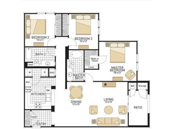 One Room Available for $1275 in a 3 Bd 2 Bth Luxury Apt. in...