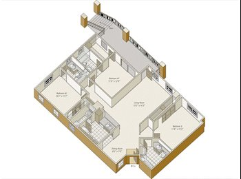 Looking for Roommate- Luxury 3Bed 3 Bath Apartment in San...