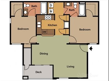 Bedroom with Ensuite Bath! $452 a month!!