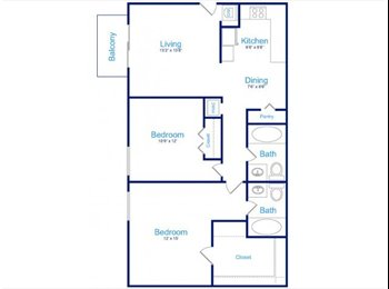 Room mate needed for 950sq ft apartment