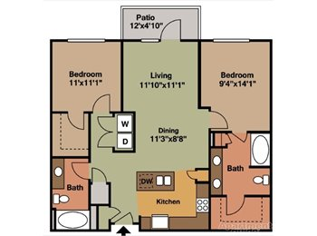 West Midtown 2BR/2BA Available Now for Male Roommate
