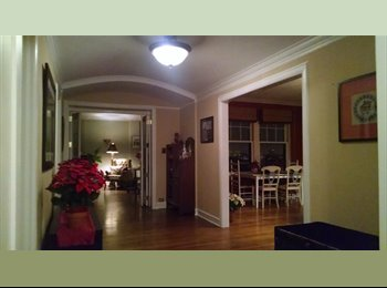 Large quiet room in expansive 2BR 2BA vintage Lakeview East...