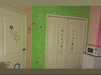 Comfortable Pink Furnished Room