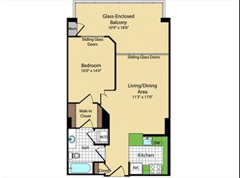 1 BR/ Sunroom Available in Meridian at Courthouse Commons!
