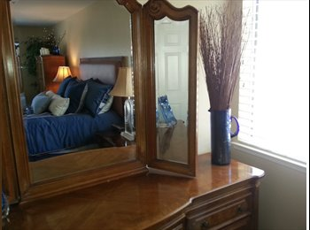 Large Master Bedroom with double mirrored closets
