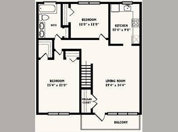 Looking for a room mate for a 2 bedroom apartment. i live...