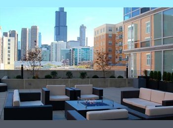 EasyRoommate US - Modern 2BD / 2BA West Loop Apt - Awesome View - Loop, Chicago - $1,250 /mo