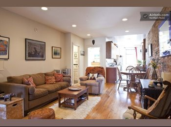 EasyRoommate US - Large, sunny, furnished room in great Park Slope apt. available 2/1/16 - Park Slope, New York City - $1,575 /mo