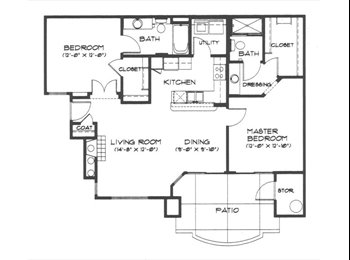 EasyRoommate US - One Bed/Bath in Partially Furnished Two Room Unit - Central Phoenix, Phoenix - $768 /mo