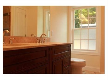 Master suite with living area & private bathroom -...