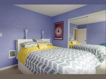 Bright, Modern, Private bedroom/bath
