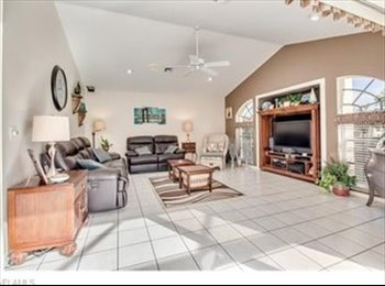 EasyRoommate US - $800 Gulf home with large pool room for rent. - Cape Coral, Other-Florida - $800 /mo
