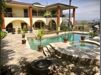 EasyRoommate US - 2 OF 6 ROOMS FOR RENT IN GORGEOUS MANSION:gym/pool/jacuzzi/view/storage/free guest&tenant parking - Baldwin Hills, Los Angeles - $1,850 /mo