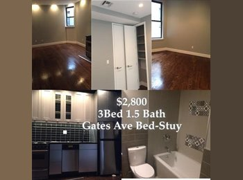 EasyRoommate US - Full Apartment Rental Renovated!! Brand New! No Broker Fee - Bedford Stuyvesant, New York City - $2,700 /mo
