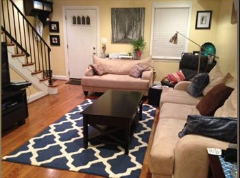 Furnished bedroom Near Braddock Rd Metro in Charming TH in...