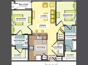 Subleasing an individual bedroom in a 2 bedroom 2 bathroom...