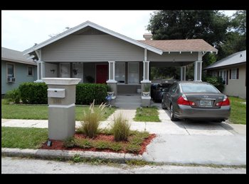 EasyRoommate US - Roomate to share my restored 1920's bungalow. Own room/bath in Seminole Heights - East Tampa, Tampa - $750 /mo
