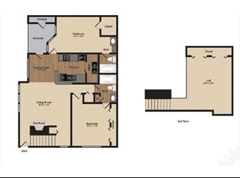 $650 / 2br - 1532ft2 - Roommate wanted for 2 bedroom at...