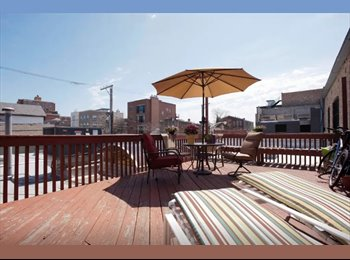 EasyRoommate US - Bedroom in large 1400 sqf. apartment with amazing deck!, Chicago - $1,150 /mo
