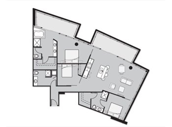 6 Need two roommates for three bedroom apartment at West...
