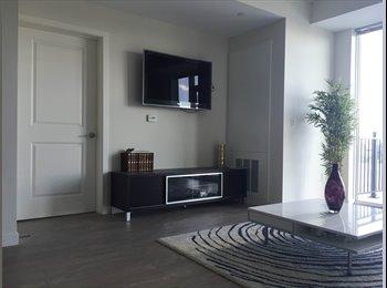 EasyRoommate US - $1600 Master Bedroom with en suite bath in Luxury 2Br/2ba apartment , 5th Floor, Stamford - $1,600 /mo