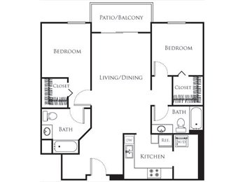 One Bedroom Private available in a 2 bedroom apartment...