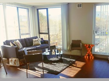 Spacious en suite master bedroom in 2bed apartment, 1 block...