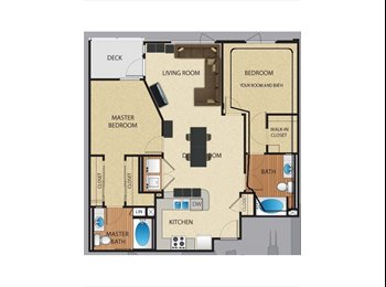1Bed1Bath available in 2Bed2Bath