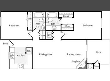 Large bedroom w/private bath for rent-Washer/Dryer in unit