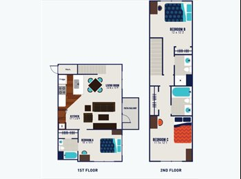EasyRoommate US - 1BR in 3BR sublease! The James! , Richmond - $639 /mo