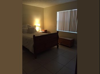 1 furnished bedroom/private bath, walk-in closet for rent