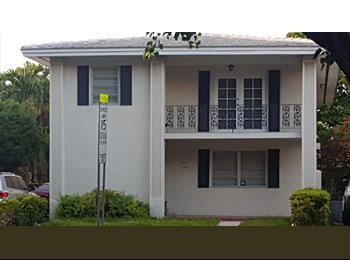 EasyRoommate US - Two private rooms for rent in great location!, Coral Gables - $1,000 /mo