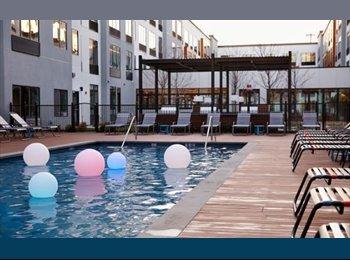 EasyRoommate US - 2 Rooms (Master & Private bd/bath) - Luxury - 2Bd/2Bt - Pool, Gym, W/D, Newark - $1,250 /mo