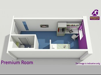 EasyRoommate UK - A wonderful en-suit premier room with sunshine - Newcastle City Centre, Newcastle upon Tyne - £594