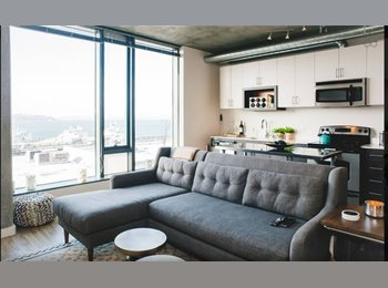 EasyRoommate US - LUXURY LOFT WITH WATER VIEWS! - Pioneer Square, Seattle - $2190