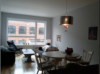 EasyRoommate CA - NICE DOUBLE ROOM FURNISHED-  4 ½ NEW, MODERN 4 1/2 - Villeray - Saint-Michel - Parc-Extension, Montréal - $550