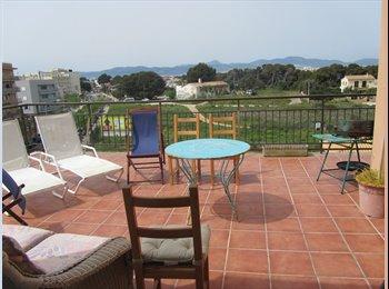 EasyPiso ES - Habitación en  piso ático luminoso con terraza - S´arenal - can pastilla - son ferriol, Palma de Mallorca - €350