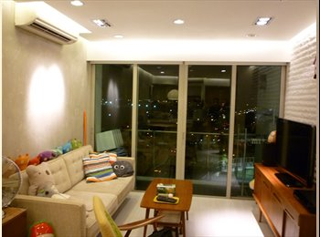 EasyRoommate SG - 2 Furnished Condo Rooms - 2 min Walk to MRT & NTUC - Hougang, Singapore - $1100