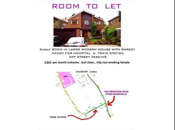 EasyRoommate UK - Single Room , Stoke Mandeville , near Aylesbury - Aylesbury, Aylesbury - £300