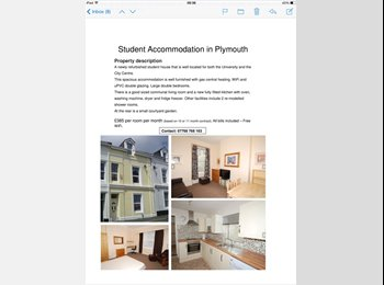 EasyRoommate UK - Rooms to rent in student house, Plymouth - Stonehouse, Plymouth - £385