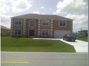 EasyRoommate US - PORT SAINT LUCIE, FL -ROOM RENTAL IN PRIVATE HOME - Port St Lucie, Other-Florida - $515